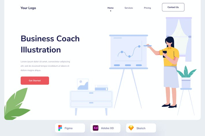 Бизнес-презентация Веб-герой
