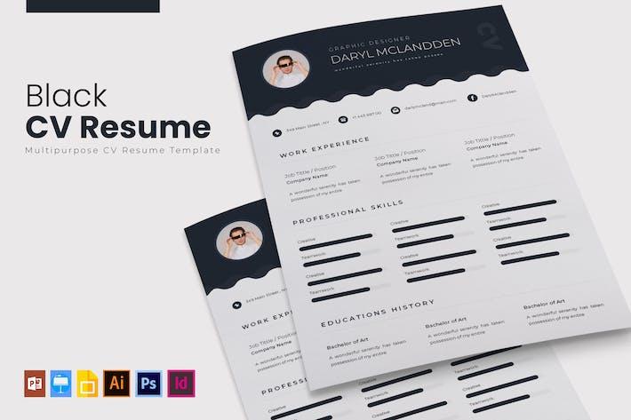Thumbnail for Black | CV & Resume