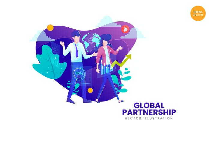 Thumbnail for Global Partnership Vector Illustration Concept
