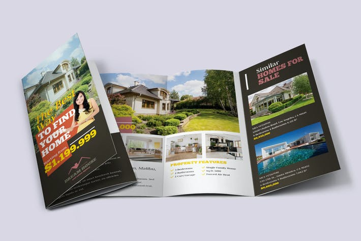Thumbnail for Real Estate Tri-fold Brochure Template