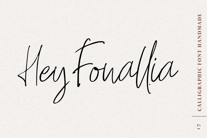 Thumbnail for Hey Fonallia Script