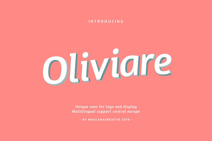 Thumbnail for Oliviare Typeface