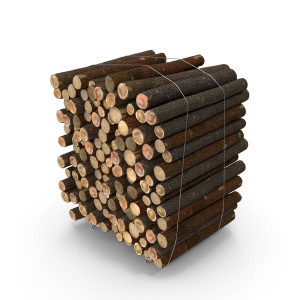 Pile of Small Wood Logs