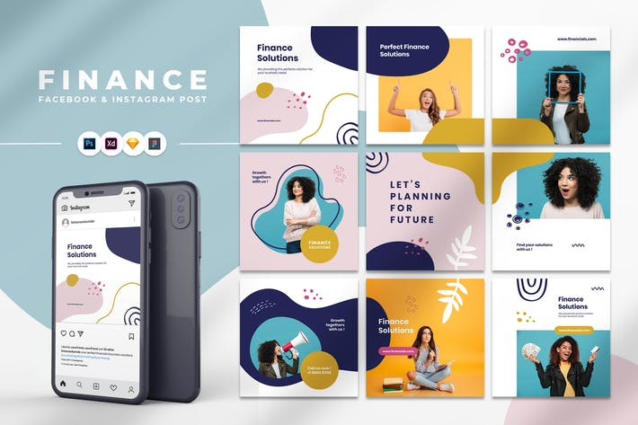 Thumbnail for Finance Instagram & Facebook Post