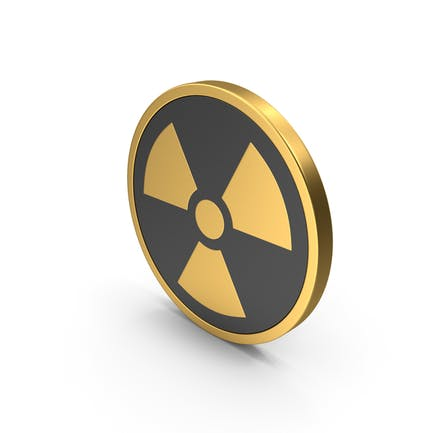 Símbolo nuclear Icono dorado