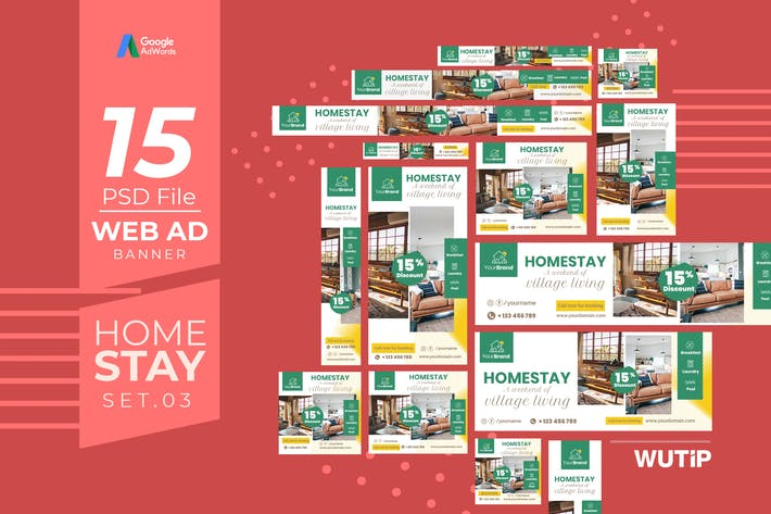 Thumbnail for Web Ad Banners - Homestay 03