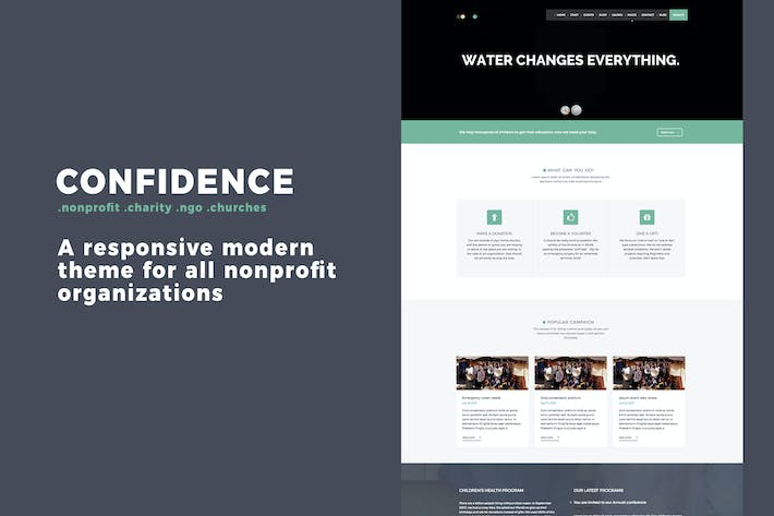 Thumbnail for Confidence  Multipurpose Nonprofit WordPress Theme