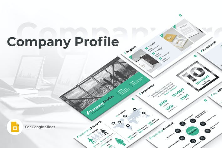 Thumbnail for Company Profile Google Slides Template