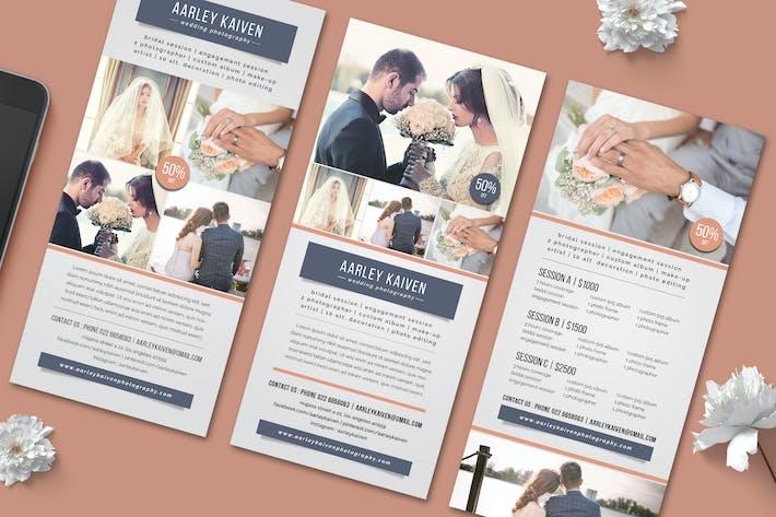 Thumbnail for Wedding Photography Rack Card