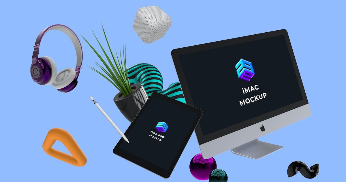 Download iMac iPad Pro Mockup - MK by angelbi88