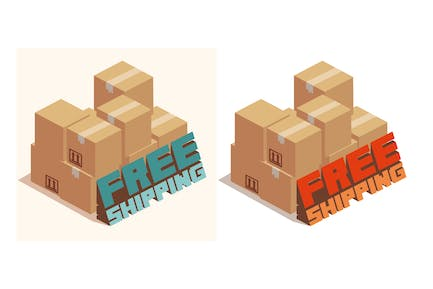 free shipping text