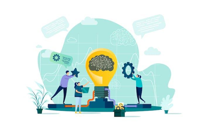 Thumbnail for Brainstorming Flat Concept Vector Illustration