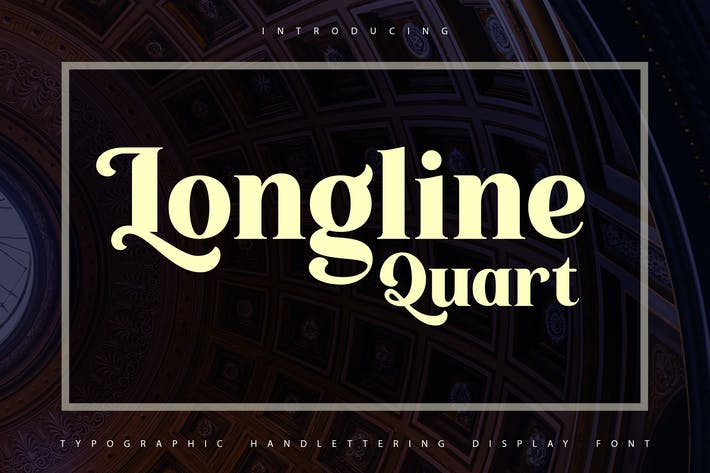 Thumbnail for Longline Quart | Typhographic Display Font