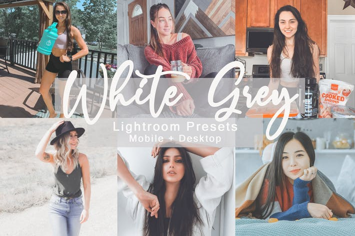 Thumbnail for White Grey -  Lightroom Presets Bundle