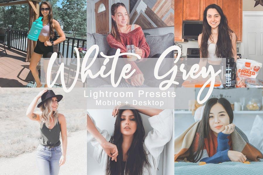 White Grey -  Lightroom Presets Bundle