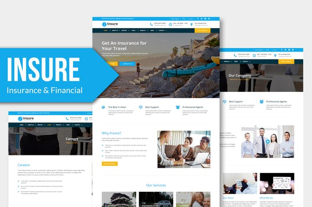 Insure - Insurance, Business Muse Template YR