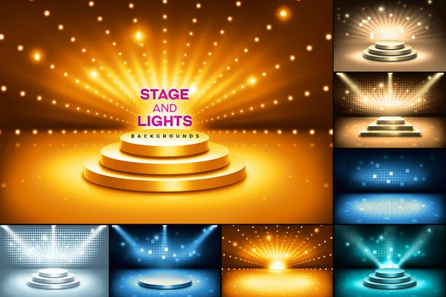 Stage and Lights Backgrounds - product preview 0