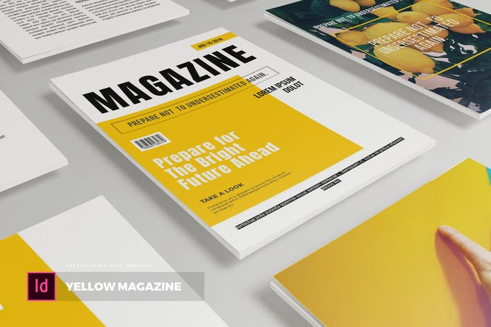 Thumbnail for Yellow | Magazine Template
