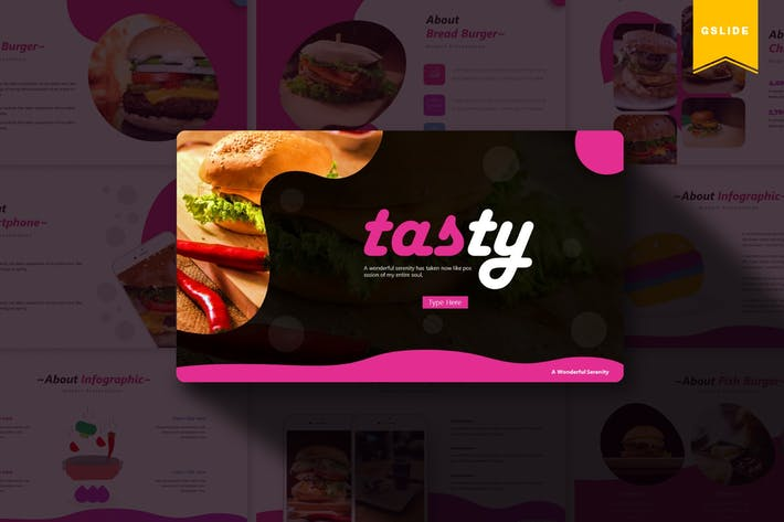 Thumbnail for Tasty | Google Slides Template