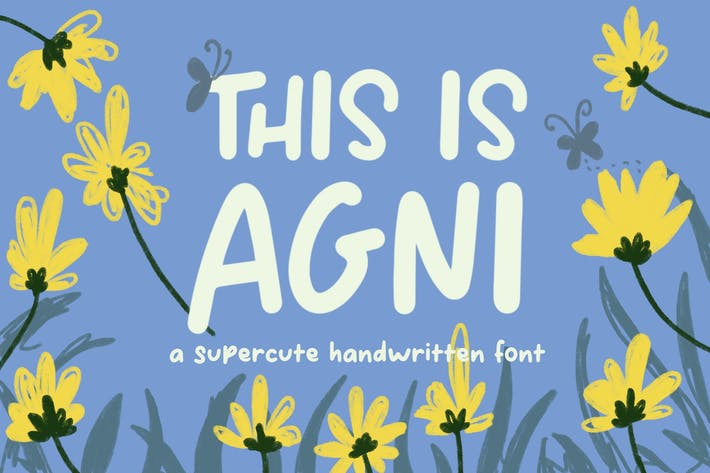Thumbnail for This Is Agni – Cute Handwritten Font