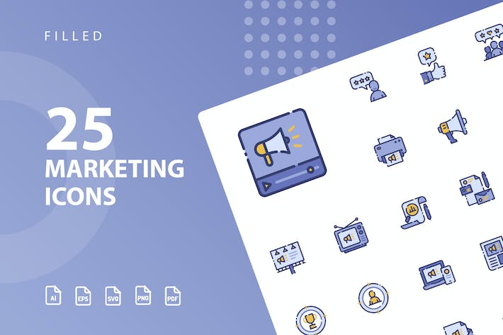 Thumbnail for Marketing Filled Icons