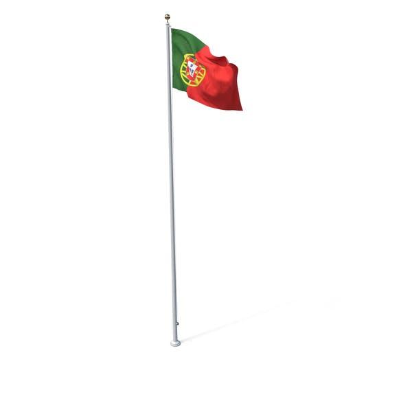 Thumbnail for Flag On Pole Portugalia