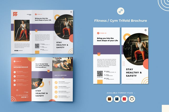 Thumbnail for Fitness & Gym Trifold Brochure