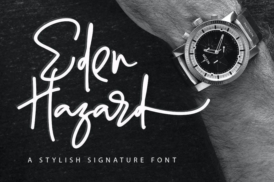 Download Eden Hazard - Stylish Font by aldedesign
