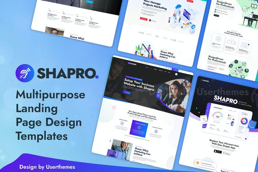 Shapro - Multipurpose Landing Page PSD Template