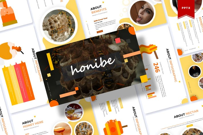 Cover Image For Honibe | Шаблон Powerpoint