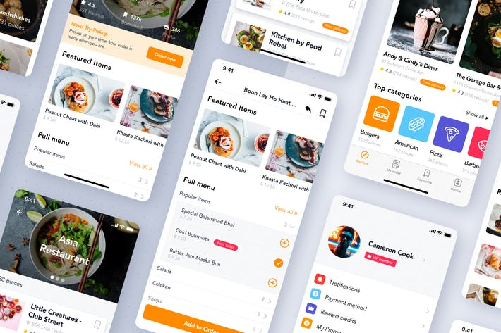 Thumbnail for Fozzi - Food Delivery App UI Kit