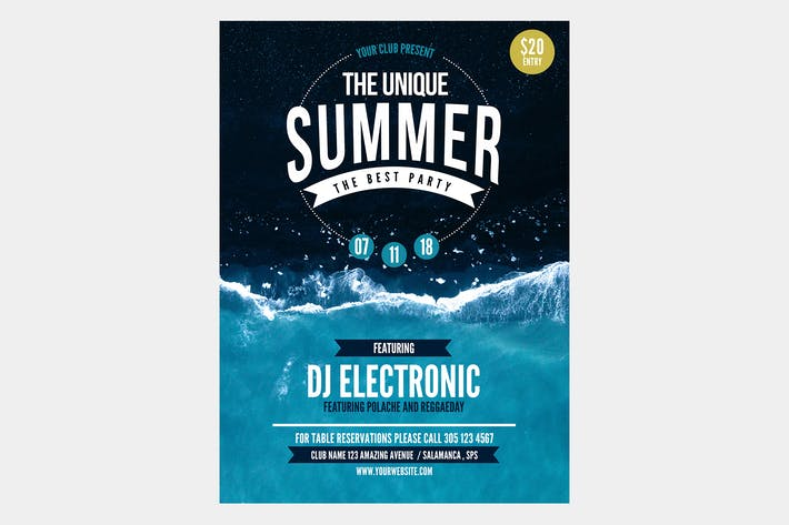 Cover Image For The Unique Summer Flyer Poster