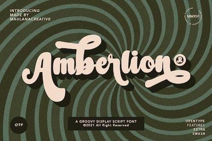 Fuente Amberlion Groovy Diplay Script