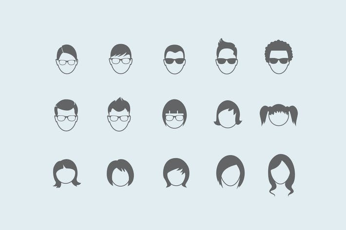 Thumbnail for 15 Hair Style Icons