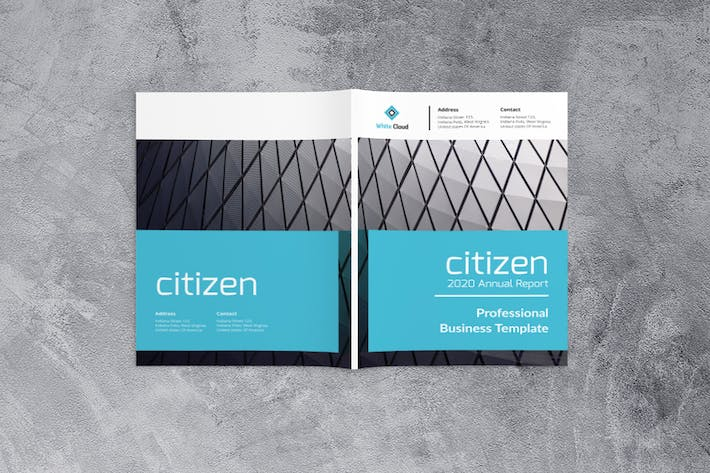 Thumbnail for Citizen Annual Report Business Template
