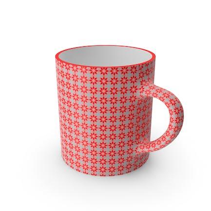 Printed Red Flower Cup