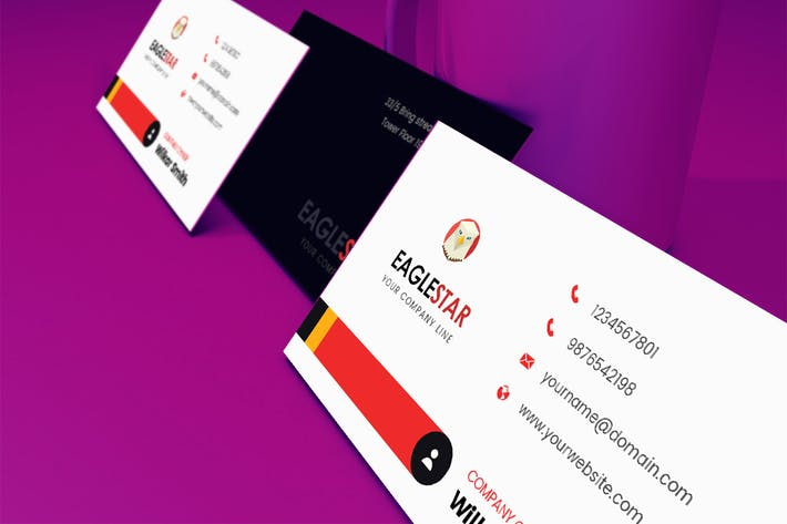 Thumbnail for Eagle Business Card Template