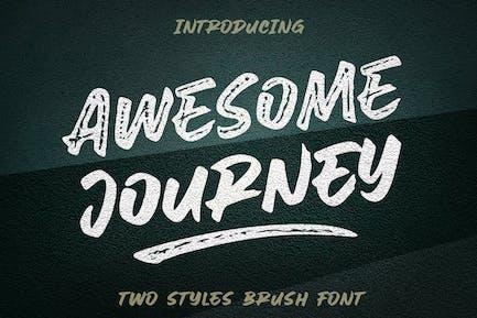 Awesome Journey - Brush Font