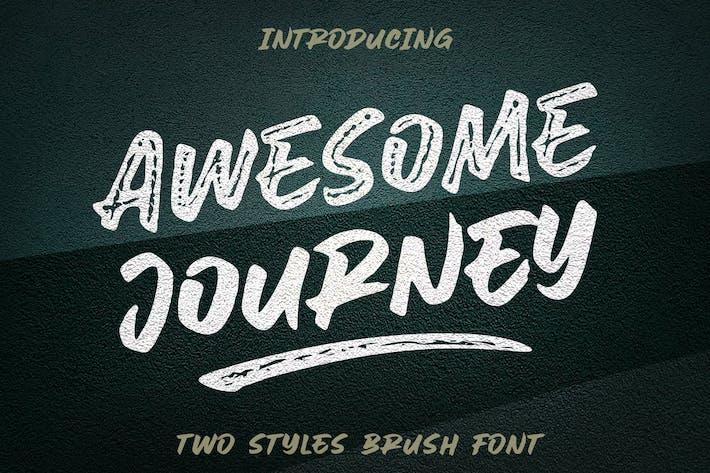 Thumbnail for Удивительное путешествие - шрифт кисти
