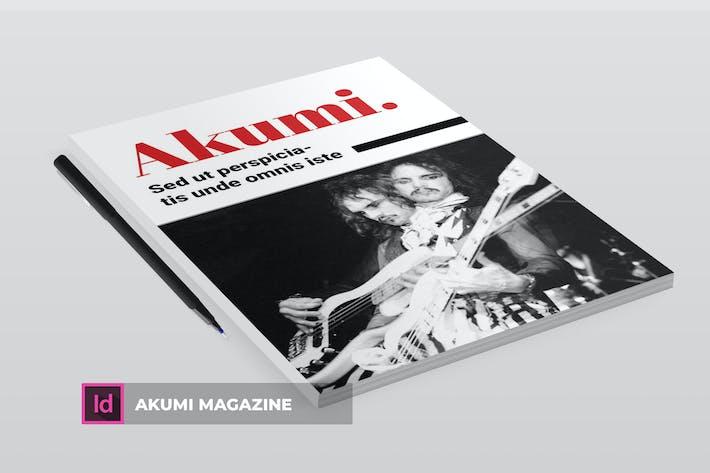 Thumbnail for Akumi | Magazine Template