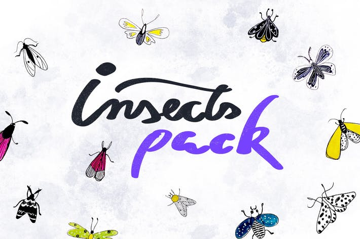 Thumbnail for 12 Cute Insects Pack