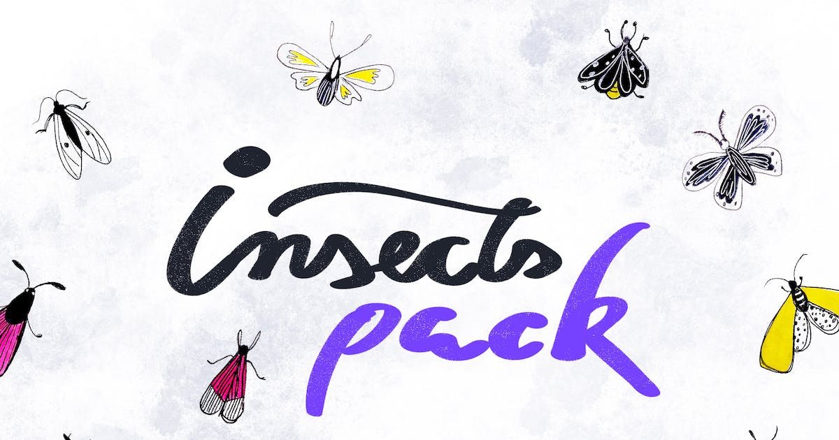 Download 12 Cute Insects Pack by cerpow