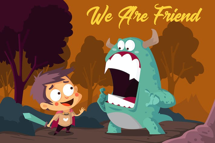 Thumbnail for We Are Friend - Vector Illustration