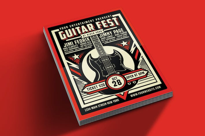 Thumbnail for Guitar Festival Flyer Template