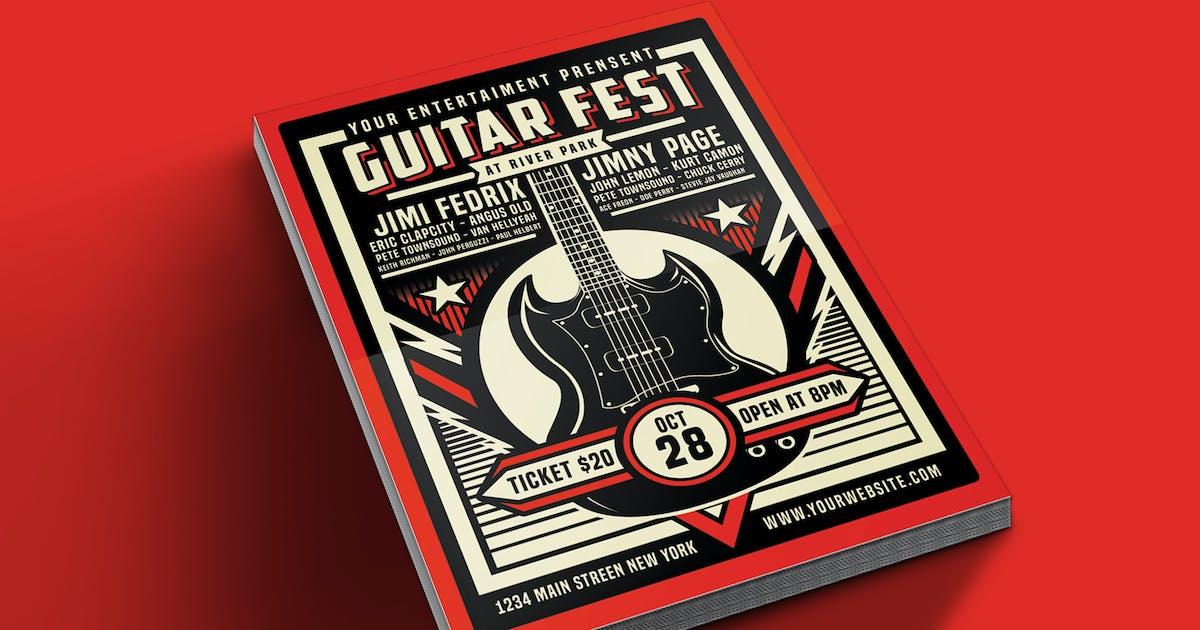 Download Guitar Festival Flyer Template by Muhamadiqbalhidayat
