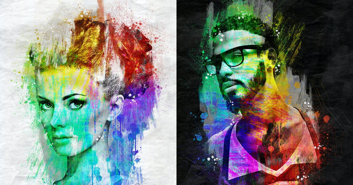 Download Chroma Art Photoshop Action by IndWorks