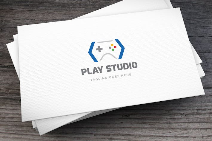 Thumbnail for Play Studio Logo Template