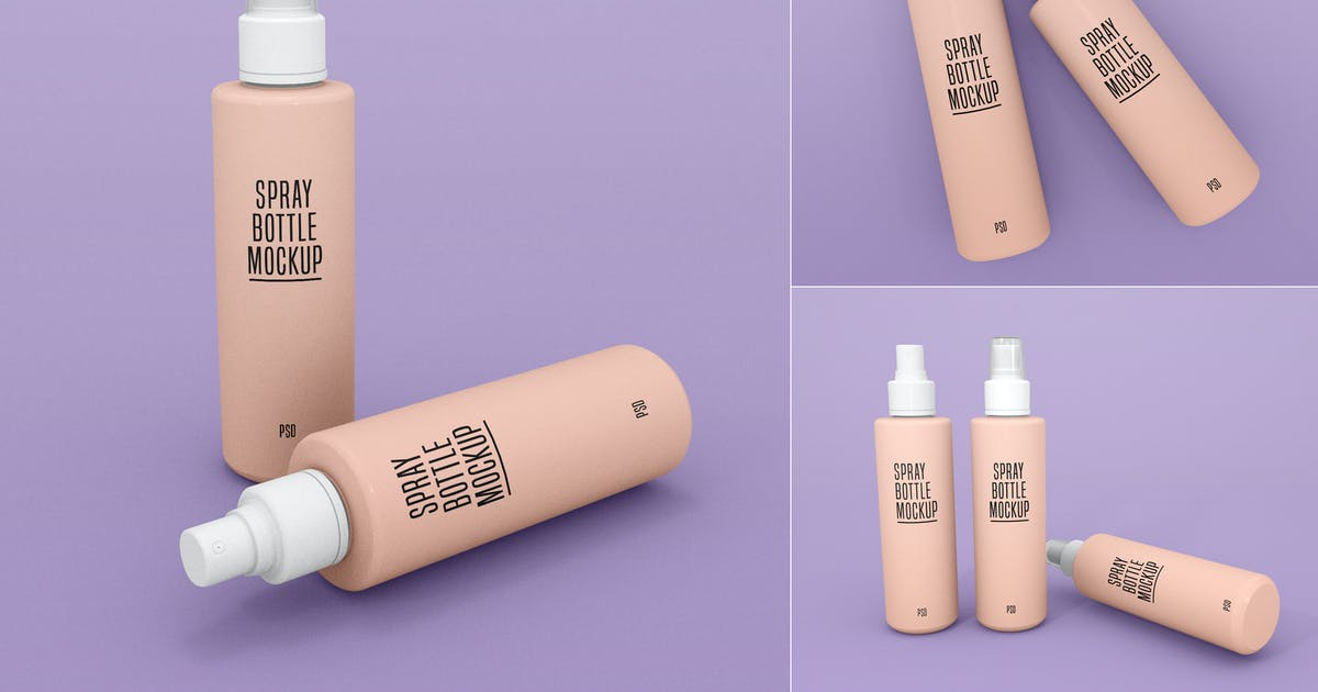 Download Spray Bottle Mockup - Vol 02 by xvector-team