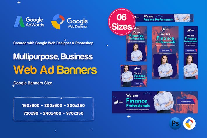 Thumbnail for Multi-Purpose Banners HTML5 D70 - GWD & PSD