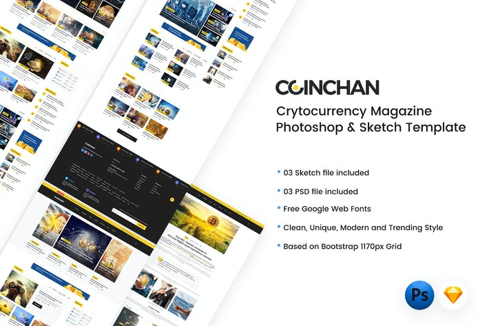 Thumbnail for Coinchan - Crytocurrency Magazine Template